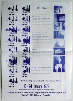 S 1979 01 00 lomholt elling poster mr klein st petri exhibition 001